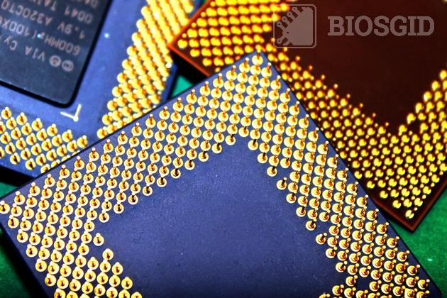Фото нескольких процессоров