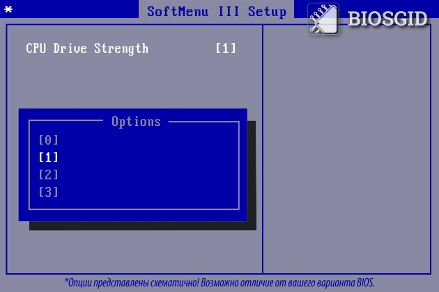 Параметр - CPU Drive Strength