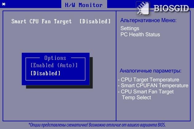 Параметр - Smart CPU Fan Target