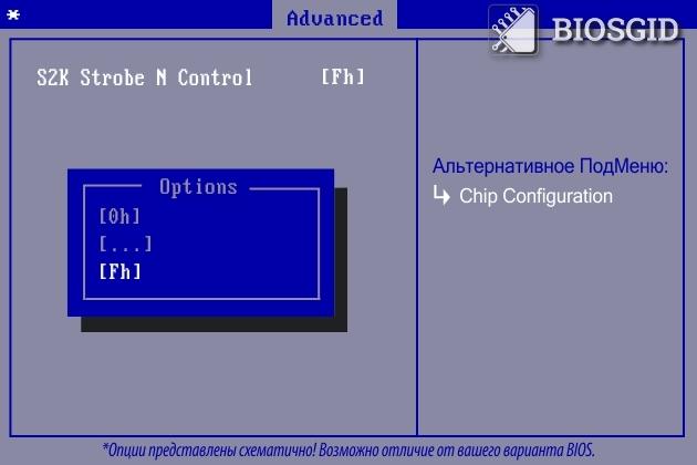 Параметр - S2K Strobe N Control
